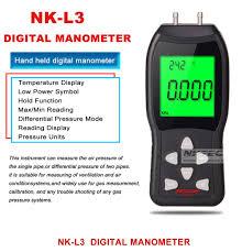 digital manometer. newest professional nktech nk-l3 lcd digital manometer differential air pressure meter gauge kpa ±3psi temperature measuring -40 to 80 degree celsius 12