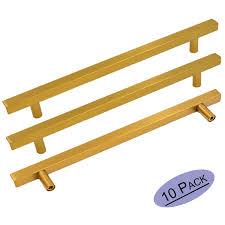 drawer pulls for furniture. Brushed Brass Cabinet Knobs Drawer Pulls Furniture Hardware - Goldenwarm LS1212GD256 T Bar Square Gold Kitchen For O