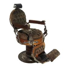 Steampunk Barber Chair with Velvet / Metal / Wood