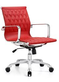 red leather office chair. Red Leather Office Chair I