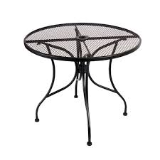 metal patio tables round