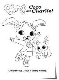 Binglineartcococharlie Bing Bunny Disegni Da Colorare Colori