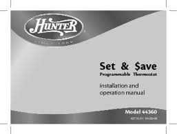 thermostat users guides thermostat page  44360 manuals 44360 manuals set programmable thermostat installation