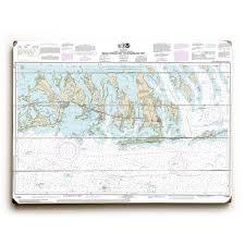 Fl Keys Bahia Honda Key To Sugarloaf Key Nautical Chart Sign Graphic Art Print On Wood