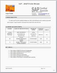 Resume For Sap Abap Fresher Sap Resume Sample Isale Sap Hana Resume