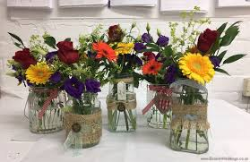 Decorate Jam Jars Wedding Flowers Liverpool Merseyside Bridal Florist Booker 98
