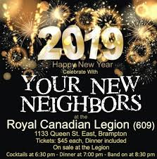 New Years Eve Party @ Brampton Legion - Dec 31 2018