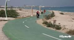 نتیجه تصویری برای مسیر دوچرخه سواری کیش