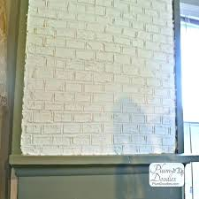 faux brick wall bricks using drywall mud plum doodles fireplace with how to paint a exposed