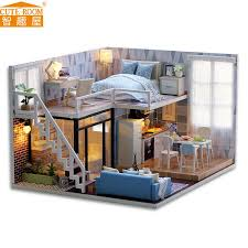 new diy miniature wooden doll house furniture kits toys handmade craft miniature model kit dollhouse toys gift for children l023 wooden dollhouses