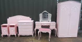 Louis Style Bedroom Furniture Louis Style Five Piece Pink Painted Bedroom Suite