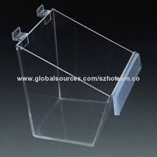 Plexiglass Display Stands China Slatwall transparent acrylic display box from Shenzhen 90