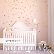zoom on gold stars wall art with gold stars wall decals set peel and stick baby nursery wall