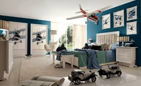 Perfect Blue Aviation Themed Bedroom
