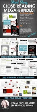 best ideas about classic short stories short close reading short story mega bundle 140 pgs of ccss aligned activities ppts