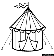 Circus Tent Coloring Page Free Circus Tent Online Coloring