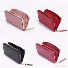 Black Leather Designer Wallet Top Quality Original Leather Designer Wallet For Women Fashion Leather Long Purse Money Bag Zipper Pouch Coin Pocket Note Designer Clutch Black