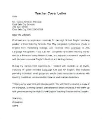Example Of Education Cover Letters Teachers Cover Letter Examples Teacher Cover Letter Examples Best