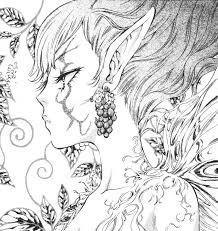 Small Picture Free Exotic Fairy Coloring Pages Goth Punk Black White By Exotic