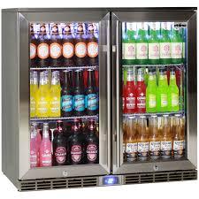 Undercounter Beverage Refrigerator Glass Door Rhino 2 Door Alfresco Glass Door Bar Fridge Outdoor Ip34 Rated