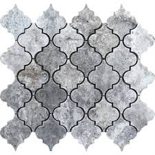 avenzo 12 in x 12 in silver lantern natural stone travertine mosaic wall tile lowe s canada