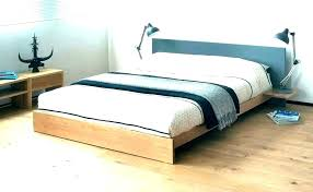 Low Bed Platform Headboard Beds Profile King A Ikea Frame Queen With ...