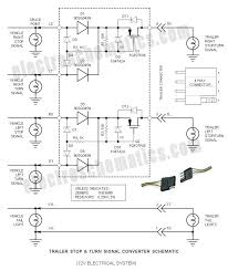 trailer way wiring schematic wirdig trailer stop amp turn converter schematic 2