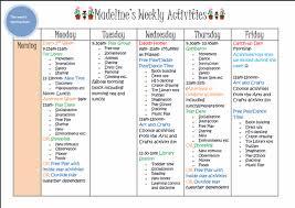 Weekly Activities Plan Under Fontanacountryinn Com