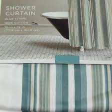 teal striped shower curtain. home teal blue green stripe fabric shower curtain striped \