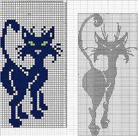 Cat Knitting Chart 112 Best Cat Charts Images Knitting Charts Cross Stitch