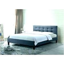 grey tufted bed frame