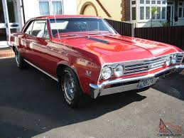 1967 Chevy Chevelle Malibu 2 Door Sports Coupe SS Clone in Red