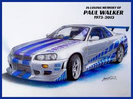 nissan skyline fast and furious drawing. Nissan Skyline GTR 34 Fast Furious And Drawing