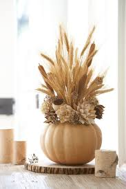 ... Quick And Easy Fall Decorating Ideas Cut Tops Center Out Of Pumpkins  Fill With Wheat Pine ...
