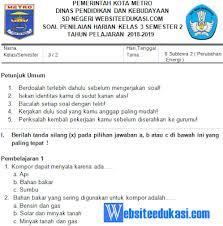 Iii ( tiga ) : Soal Ph Uh Kelas 3 Tema 6 Subtema 2 Perubahan Energi Portal Guru Indonesia