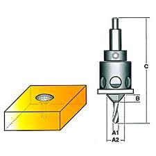 carbitool drill countersink tct with ball bearing depth stop