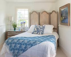 decorate behind bed in corner on angle