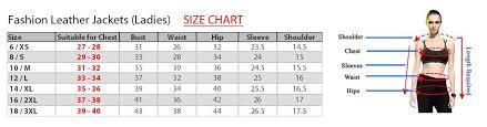 Womens Blazer Size Chart Fashion Leather Jacket Size Chart Nice Fashion