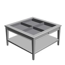 Ikea-White-Glass-Coffee-Table-drawer-Wood-Storage-