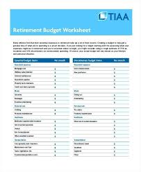 Excel Financial Planning Worksheet Excel Retirement Template