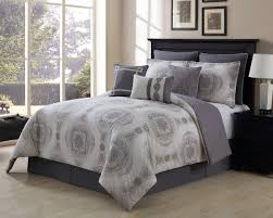 piece sloan taupegray  cotton comforter set