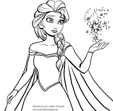 Disegno Da Colorare Di Elsa Che Con La Sua Magia Crea Il Ghiaccio