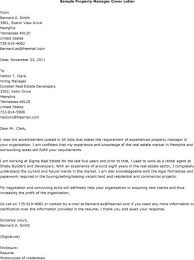 Cover Letter For Property Manager Assistant Cover Letter Property