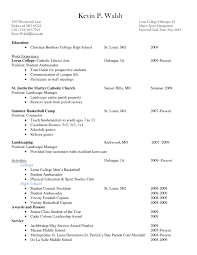 Sample High School Resume For College Application New Example Resume