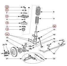 volvo v front strut replacement supplement v70 front suspension exploded diagram
