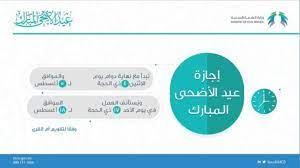 اجازة عيد الاضحى 2019 السعودية البنوك