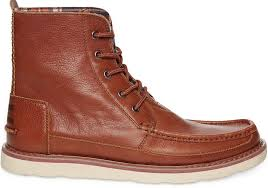 toms chocolate brown full grain leather searcher boots