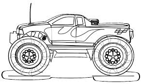 Monster Truck Coloring Pages Jeanettewalliscom