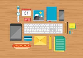 office desk top. Photodune-6171826-office-elements-on-desktop-illustration-m Office Desk Top
