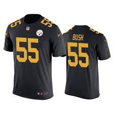 T-shirt Pittsburgh Devin Rush Steelers Men's Color 55 Bush Black fbbeddeaaaccc|Patriots Vs Bills Game Preview